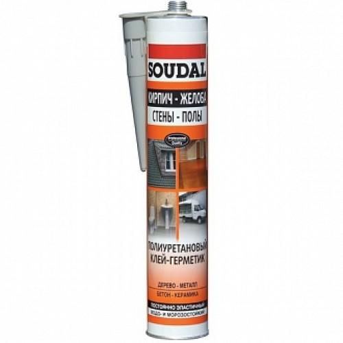 Клей-герметик SOUDAL PU Sealant 300 мл серый