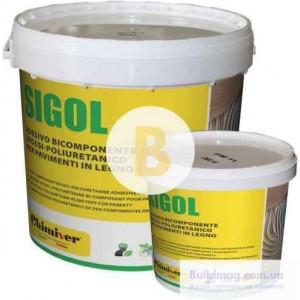 Клей для паркета полиуретановый 2х компонентный SIGOL R.E 9 кг +отвердитель 1 кг