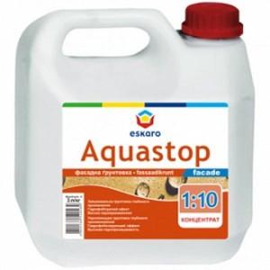 Грунтовка водоотталкивающая Eskaro Aquastop Facade концентрат 1:10 1 л