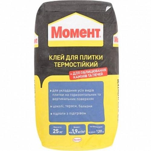 Клей для плитки Момент термостойкий 25кг