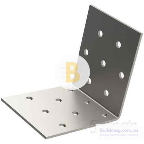 Перфорированный крепежный уголок равносторонний 50x50x40мм 2мм 10 шт.