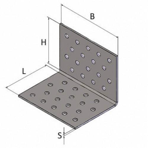 Перфорированный крепежный уголок 80x80x80мм 2мм