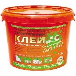 Клей монтажный универсальный Lacrysil Сумасшедшая липучка 1,2 кг