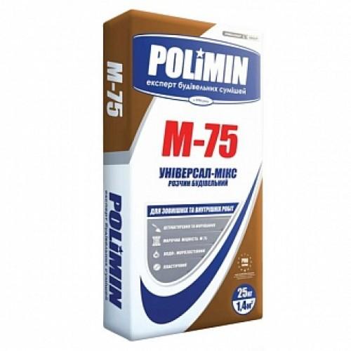 Раствор строительный Polimin М-75 25 кг