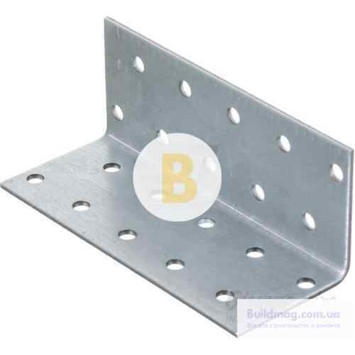 Перфорированный крепежный уголок равносторонний 40x40x100мм 1,8мм