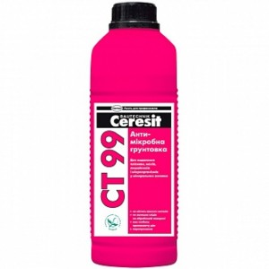 Антигрибковая грунтовка Ceresit СТ 99 антимикробная 1 л