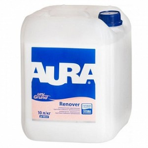 Грунтовка глубокого проникновения Aura Unigrund Renover 10 л