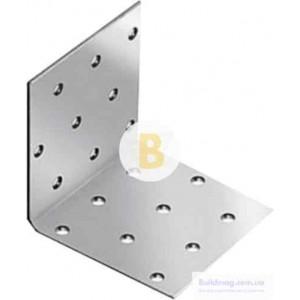 Перфорированный крепежный уголок равносторонний 80x80x40мм 2,5мм