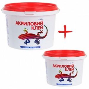 Клей акриловый Polimin универсальный Polimin 3 кг + 1 кг в подарок