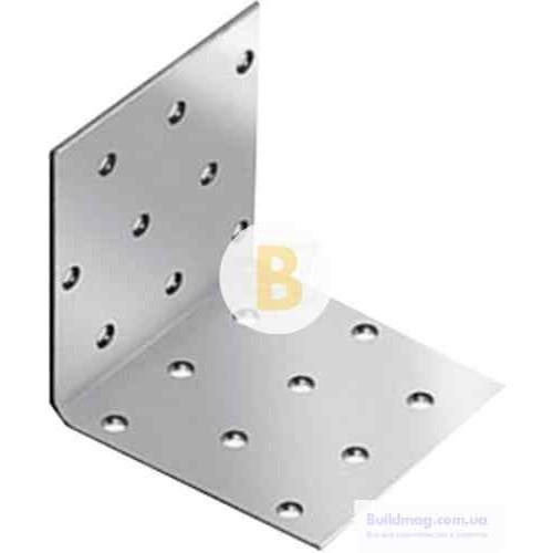 Перфорированный крепежный уголок равносторонний 90x90x65мм 2,5мм
