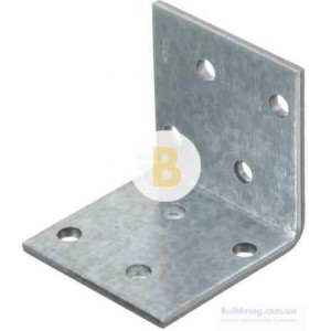 Перфорированный крепежный уголок равносторонний 40x40x40мм 2,5мм