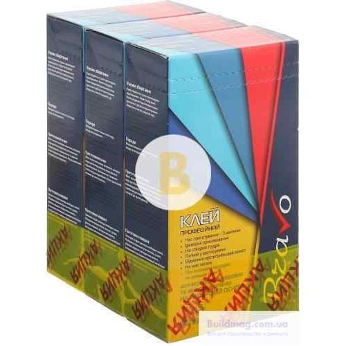 Клей для обоев Bravo профессиональный для виниловых обоев на флизелиновой основе 250 г 2+1 бесплатно