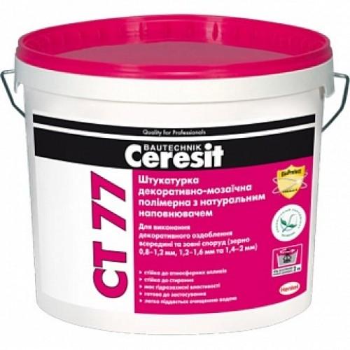 Декоративная штукатурка мозаичная Ceresit CT 77 Sierra 6 1,4-2,0 мм 14 кг