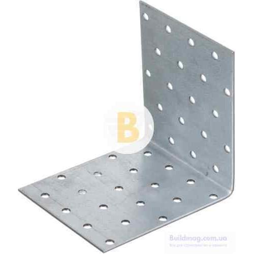Перфорированный крепежный уголок равносторонний 100x100x80мм 2,5мм