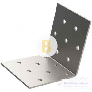 Перфорированный крепежный уголок равносторонний 50x50x40мм 2мм 6 шт.