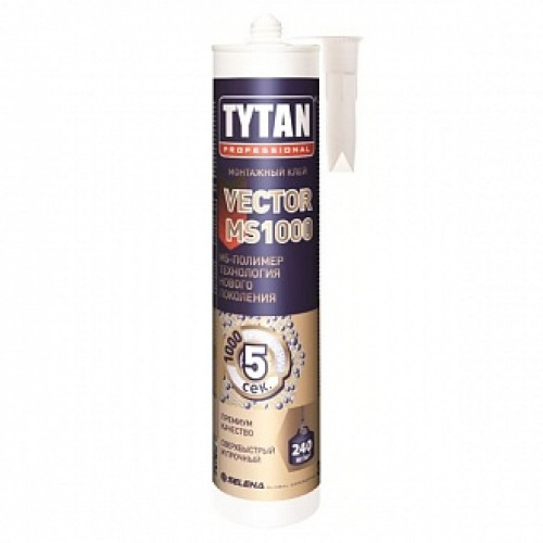Монтажный клей Tytan Vector MS1000 белый 290 мл