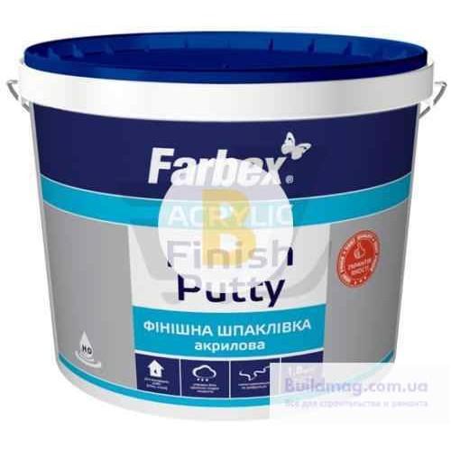 Шпаклевка Farbex финишная акриловая 1,5 кг белая
