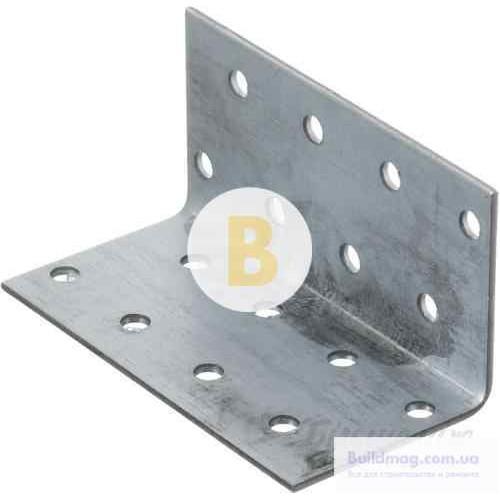 Перфорированный крепежный уголок равносторонний 40x40x80мм 1,8мм