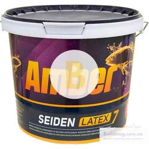 Краска латексная Amber SEIDEN LATEX 7 шелковистый мат белый 5л
