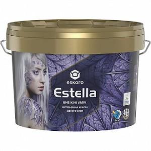 Краска акриловая Eskaro Estella мат белый 0.9л