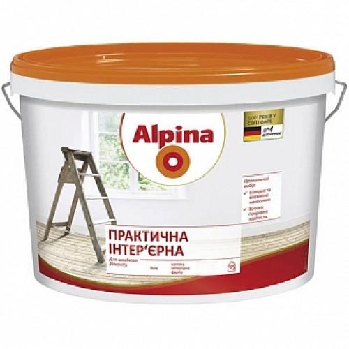Краска Alpina Практичная интерьерная белый 3.5кг