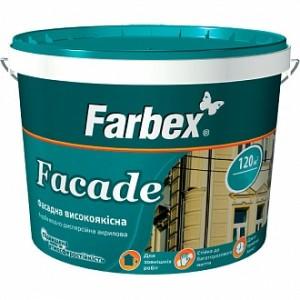 Краска акриловая Farbex Facade белый 1,4кг