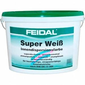 Краска латексная Feidal Super Weiss мат белый 2,5л