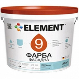 Краска Element 9 База А белый 1л