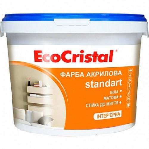 Краска акриловая водоэмульсионная EcoCristal EcoCristal Стандарт ИР-231 мат белый 1л