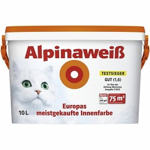 Краска Alpina Alpinaweiss белый 10л