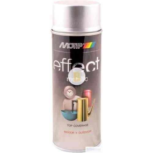 Аэрозольная краска в баллончике Motip Deco Effect с эффектом металлик сияющий серебряный 400 мл