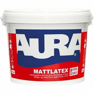 Краска Aura Mattlatex белый 2,5 л 3,29 кг
