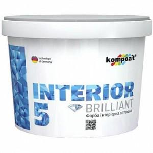 Краска Kompozit INTERIOR 5 белый 4,7л 7кг