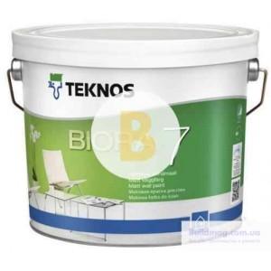 Краска интерьерная акрилатная TEKNOS BIORA 7 база 1 мат белый 0,9л