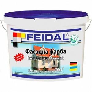 Краска акриловая Feidal Fassadenfarbe economic мат белый 5л