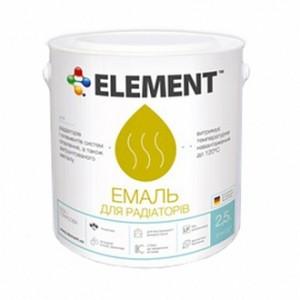Эмаль Element акриловая для радиаторов белый глянец 0,75л