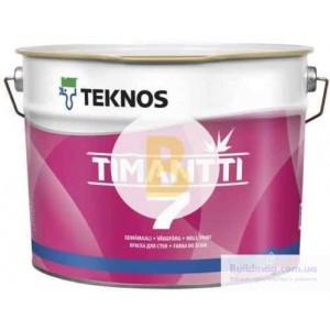 Краска интерьерная акрилатная TEKNOS TIMANTTI 7 база 3 мат база под тонировку 9л