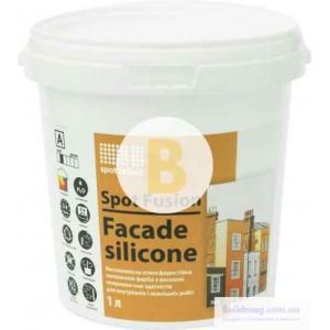 Краска силиконовая водоэмульсионная Spot Colour Fusion Facade Silicone мат белый 1л