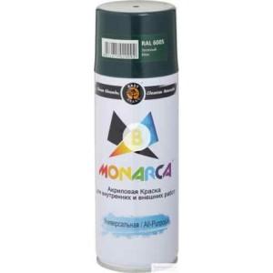 Краска аэрозольная универсальная MONARCA RAL 6005 зеленый мох глянец 520 мл 270 г