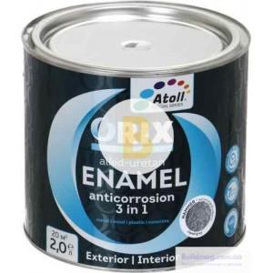 Эмаль Atoll ORIX HAMMER 3 в 1 серый глянец 2л