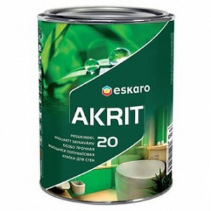 Краска Eskaro Akrit 20 белый 0,95л 1,01кг