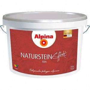 Краска декоративная Effect Naturstein fein B1 Alpina белый 14кг