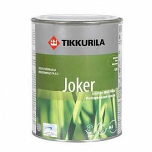 Краска TIKKURILA Joker, база А белый 0,9л 1,2кг