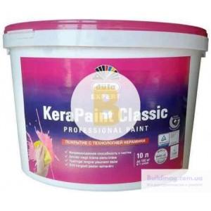 Краска акриловая водоэмульсионная Dufa Expert KeraPaint Classic с эффектом керамики шелковистый мат белый 2,5л