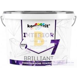 Краска латексная Kompozit Interior 7 база С мат база под тонировку 7кг