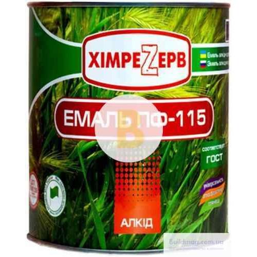 Эмаль ХимреZерв алкидная ПФ-115 салатовый глянец 0,9кг