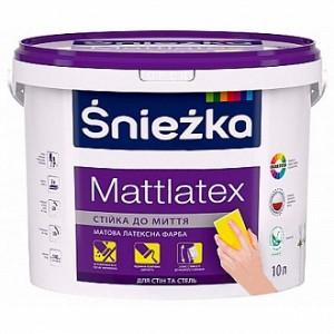 Краска латексная Sniezka Mattlatex мат белый 10л 14кг