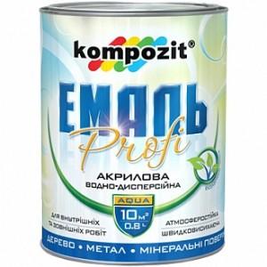 Эмаль Kompozit акриловая Profi черный глянец 0,8л