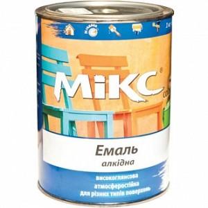 Эмаль MIKS Color алкидная белый глянец 2,8кг