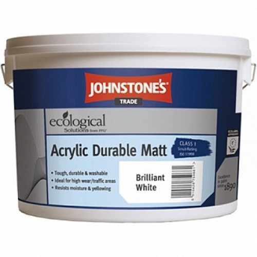 Краска Johnstone's Acrylic Durable Matt белый 10 л